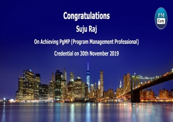 Congratulations Suju on Achieving PgMP..!